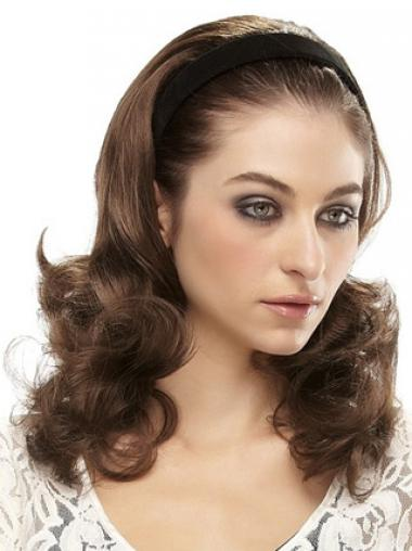 Brown Wavy Fashionable Wigs/Human Hair Wigs & Half Wigs