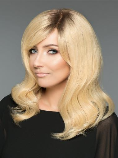 """100% Hand-tied 16"""" Blonde Without Bangs Buy Human Hair Online"""