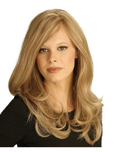 Wavy Blonde 100% Hand-tied Fashionable Petite Wigs