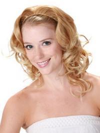 blonde curly flexibility wigs human hair wigs half wigs